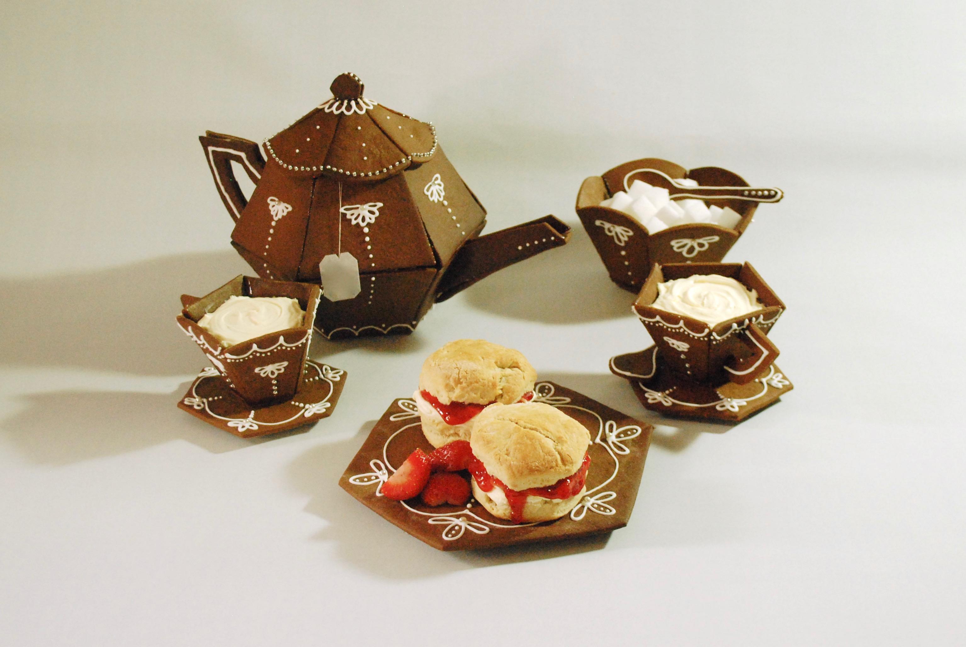 gingerbread tea set