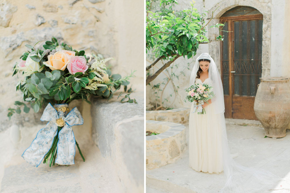 Traditional Greek Wedding with Sarah Seven Wedding Dress