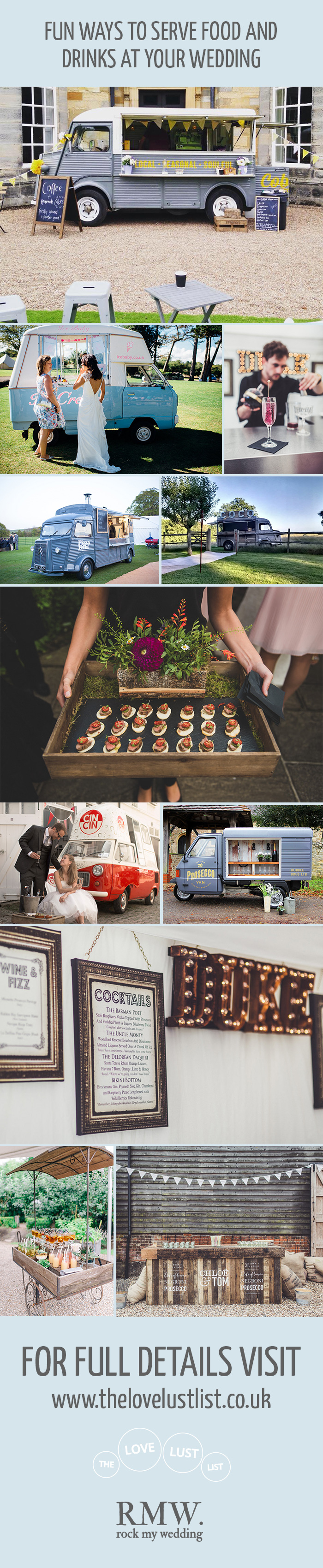 Fun Ways To Serve Wedding Food