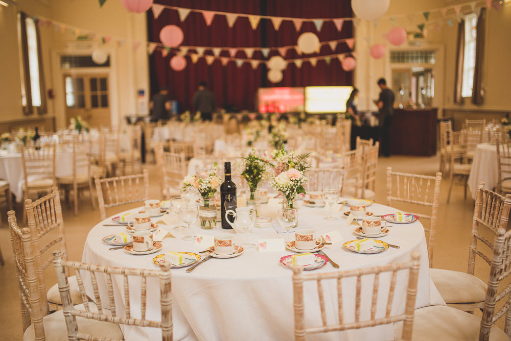 Vintage Budget Friendly Diy Village Hall Wedding With Rosetta