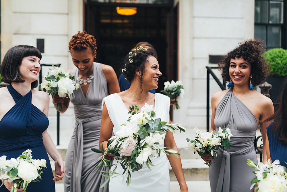 d4f142f27de Stylish London Wedding with White Flowers   Bridal Jumpsuit
