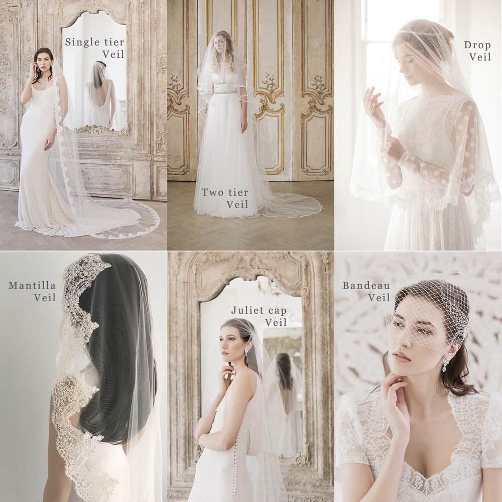 Different Types of Bridal Veil // Britten veil guide