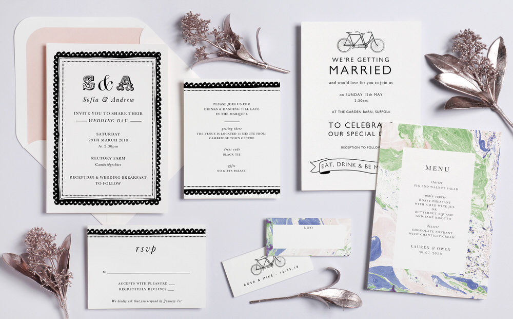 Papier x Katie Leamon - Papier x Katie Leamon | Wedding Stationery | Marbled Effect Wedding Stationery | The Love Lust List