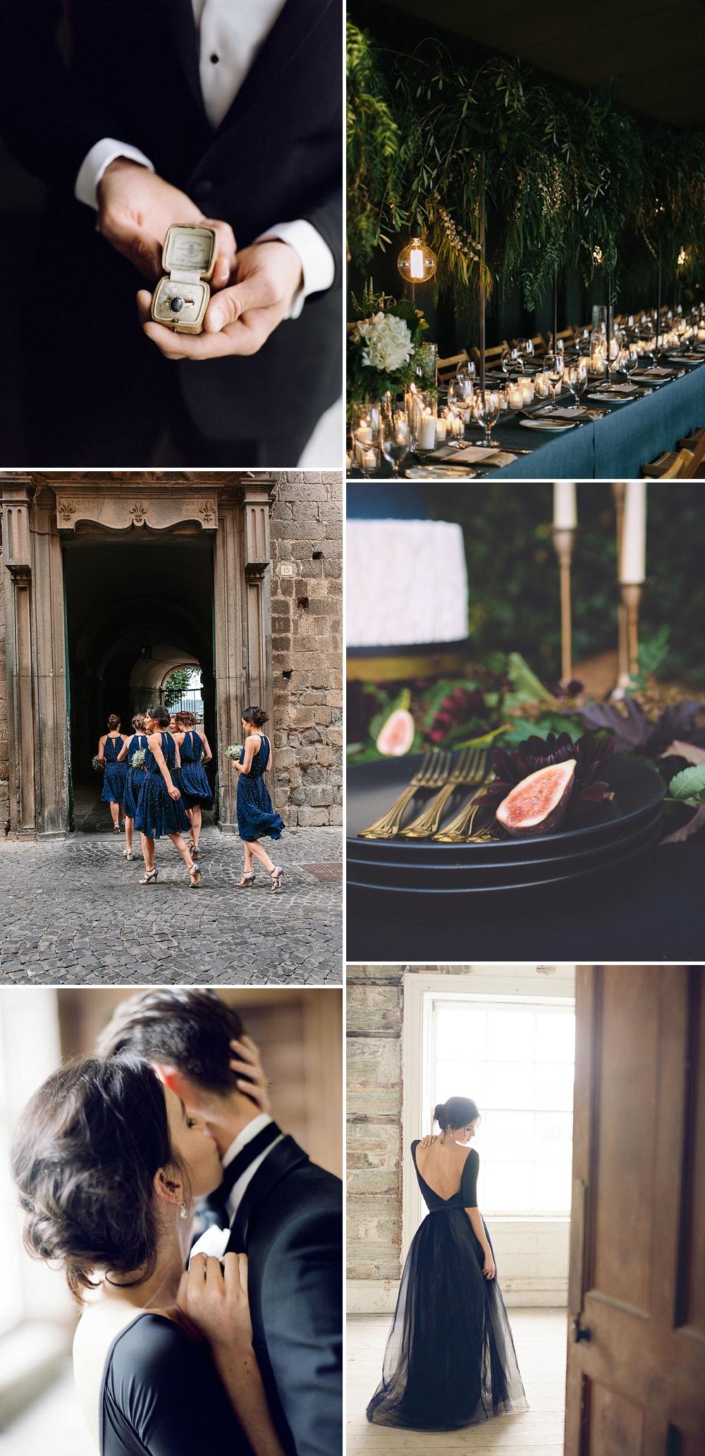 Navy Wedding Colour Palette // Dark Colour Palette For Wedding Day