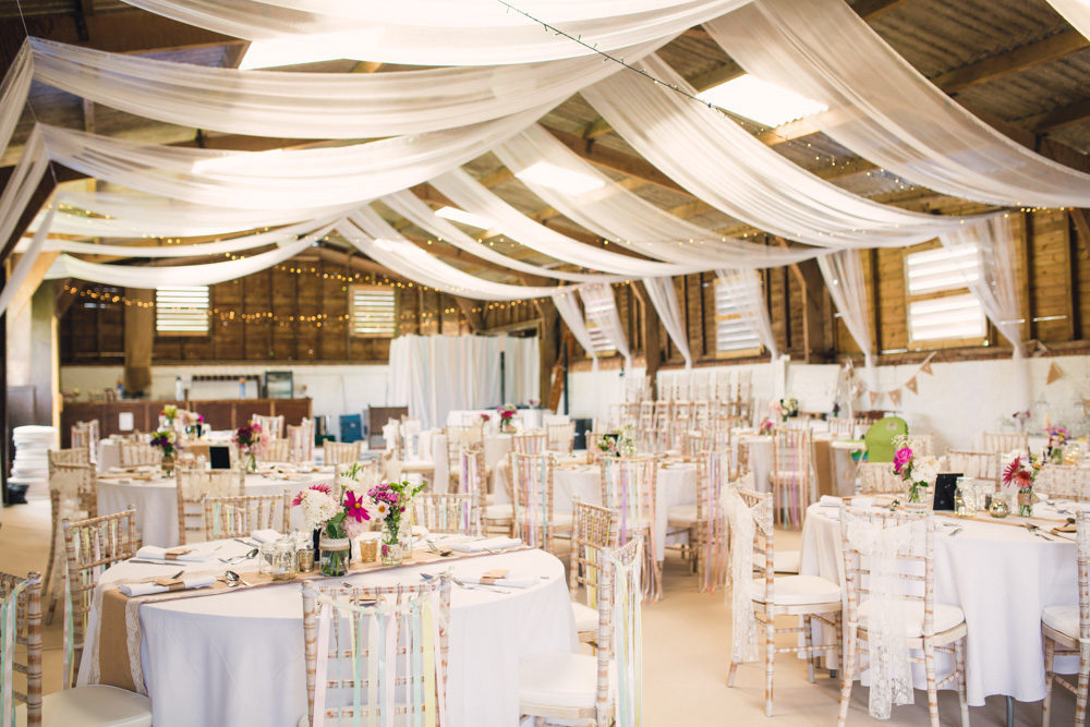 Outdoor Wedding At Furtho Manor Farm With Peach Flowers