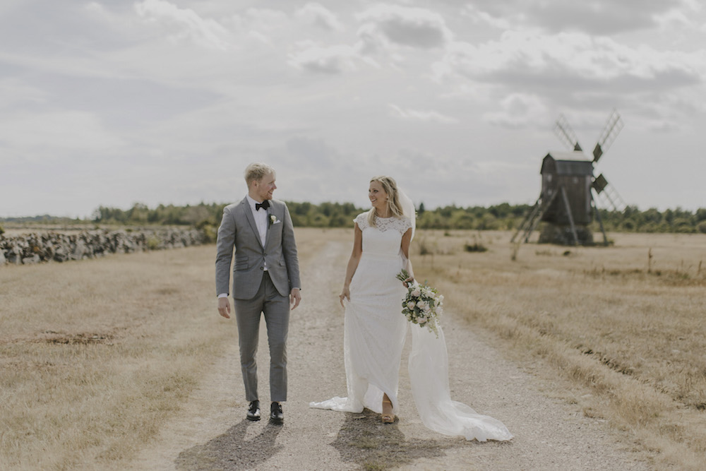 Gray Bridesmaid Dresses and Grooms