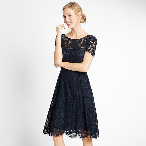 Ms Short Sleeve Lace Skater Dress Rock My Wedding Uk