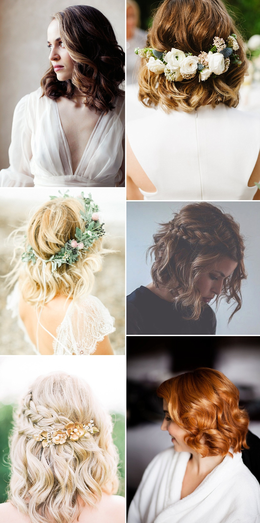 Short Hair Waves // Wedding Hair Inspiration