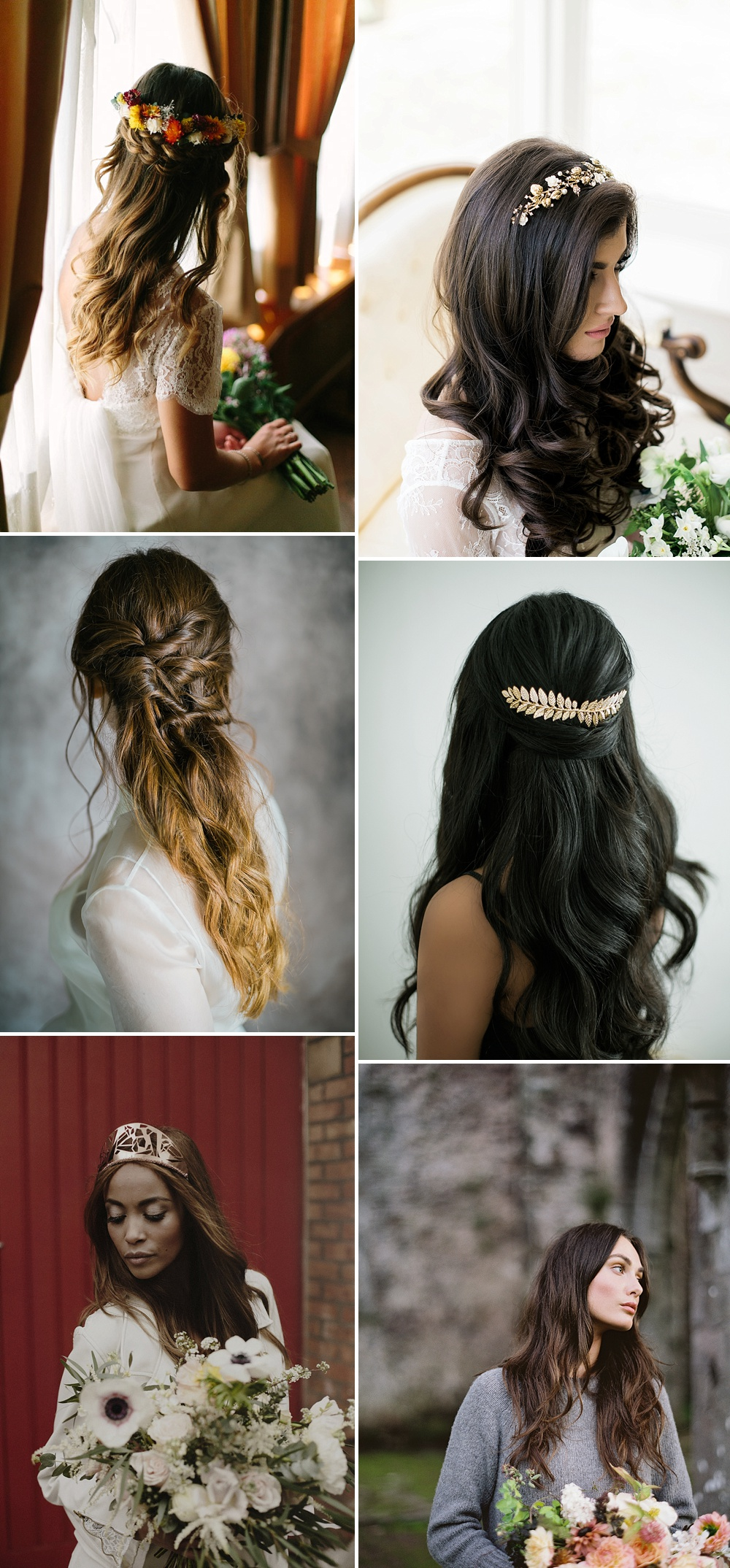 Dark Waves // Wedding Hair Inspiration