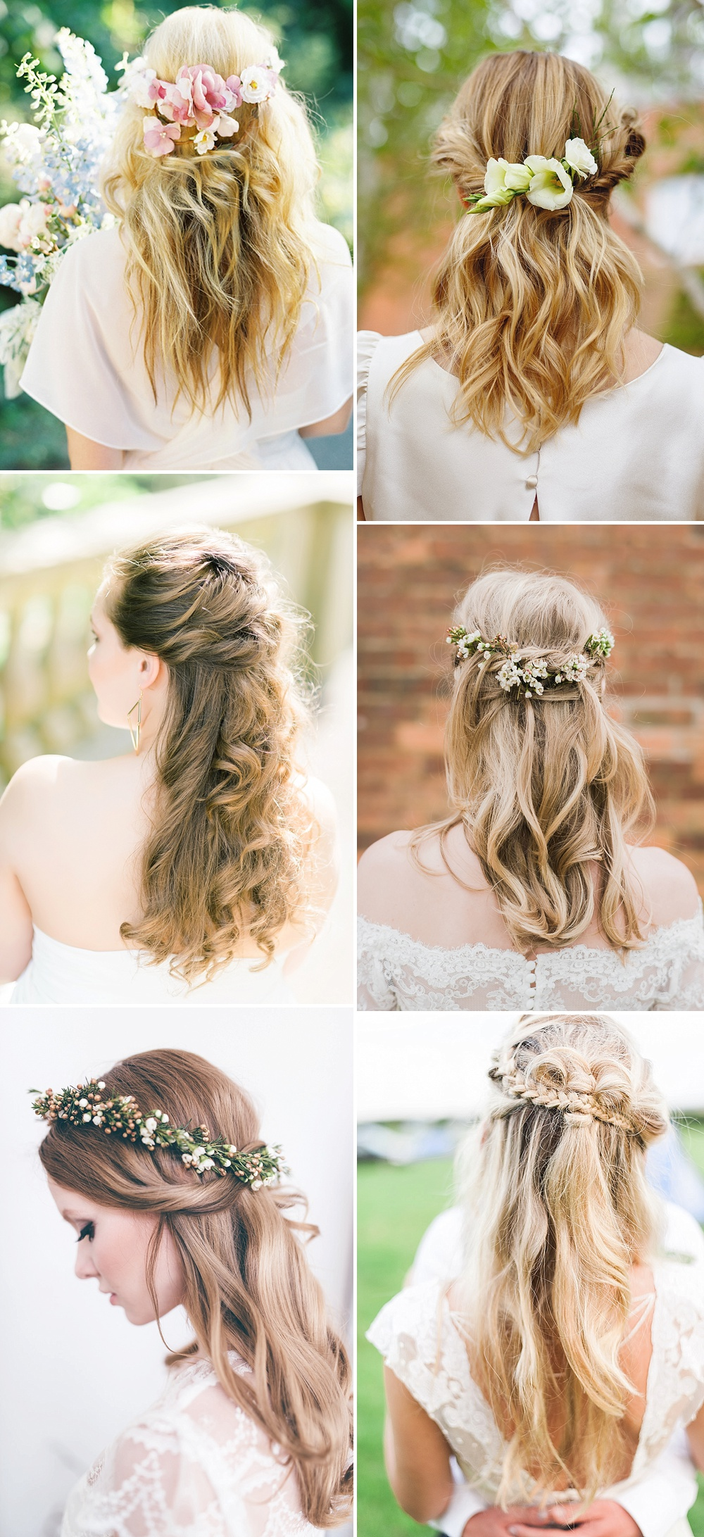 Light & Blonde Waves // Wedding Hair Inspiration