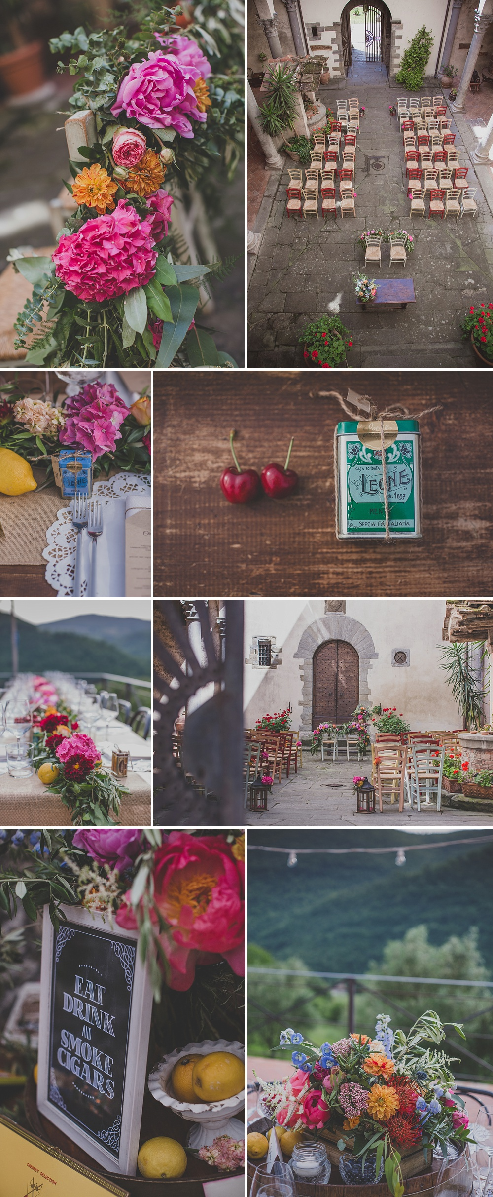 Tuscany Wedding // Vibrant Decor With A Classic Italian Twist