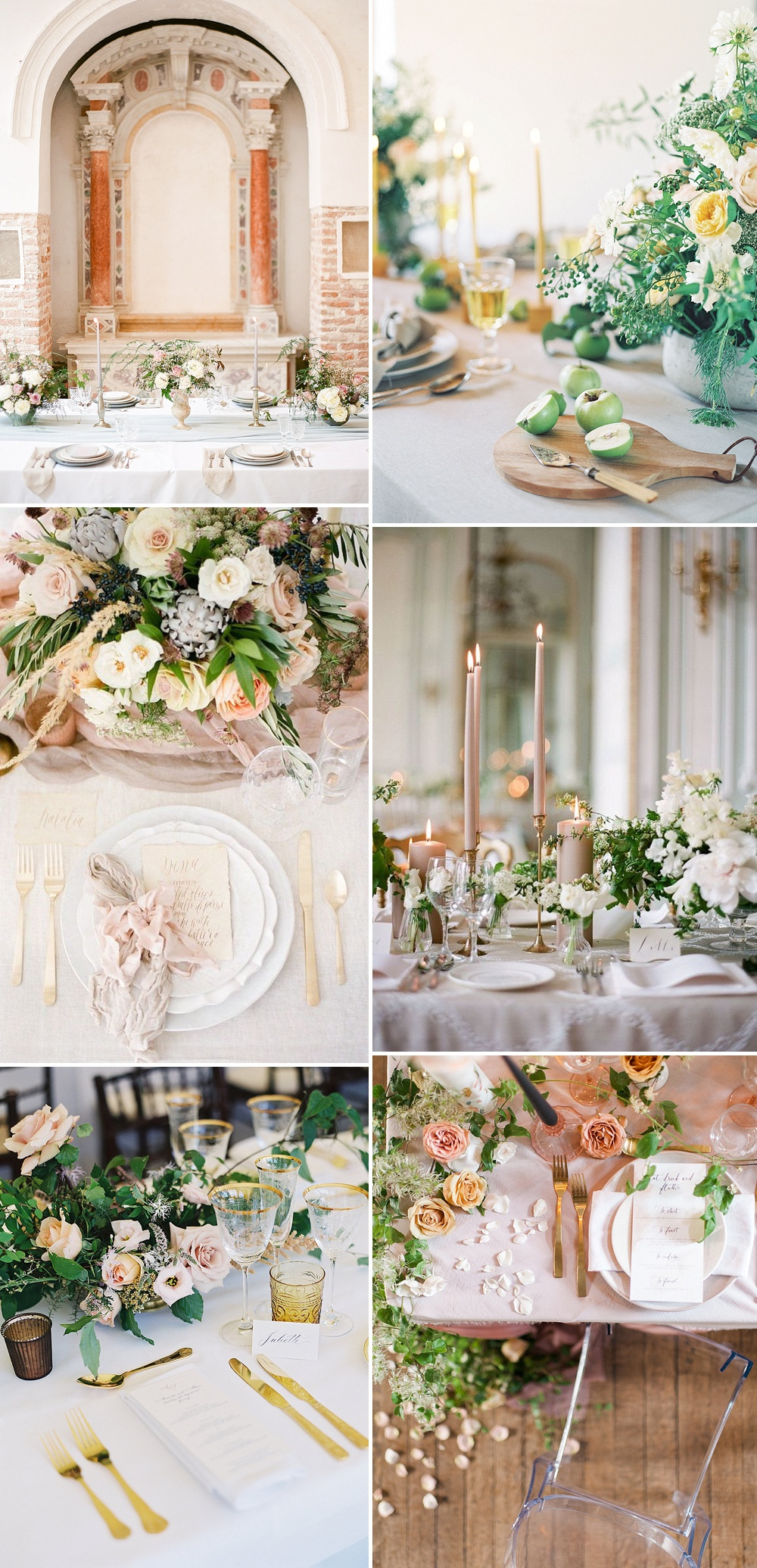 Romantic and Feminine Blush Pink & Gold Summer Wedding Place Setting Inspiration