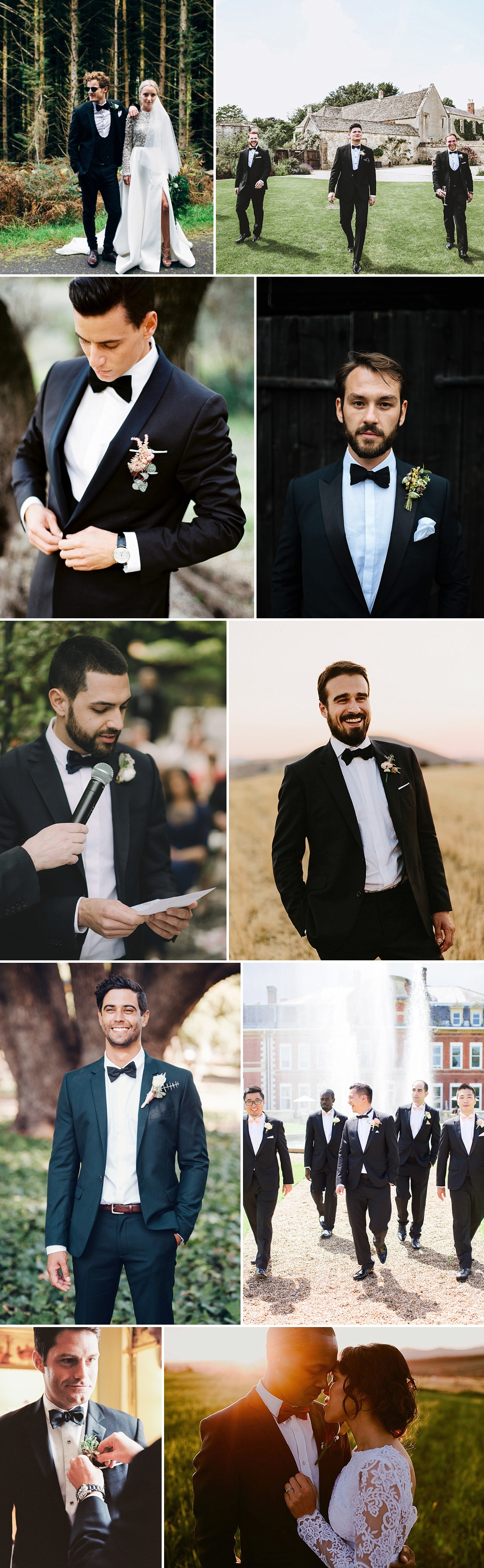Groom Wearing Black Tie For Wedding | Groom Fashion Inspiration Black Tie