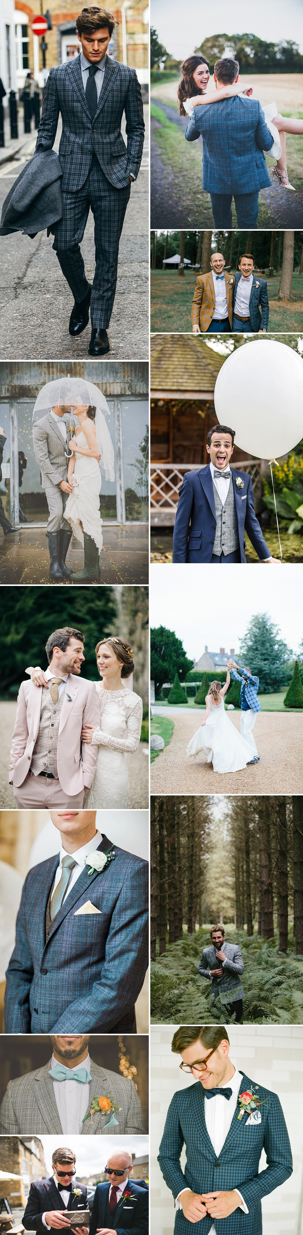 Groom Wearing Checked Suit For Wedding   Groom Fashion Inspiration