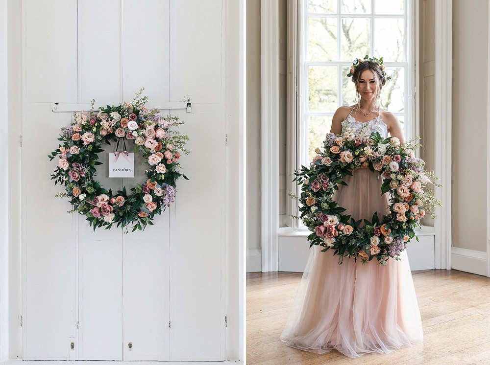 Floral Wreath For Wedding Day