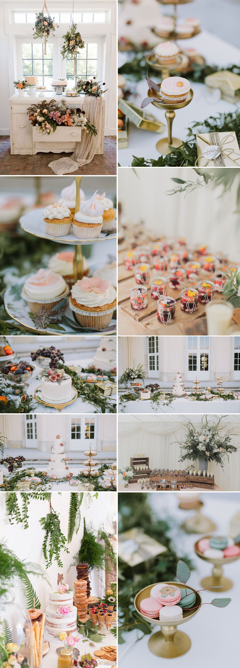 Romantic Wedding Dessert Table