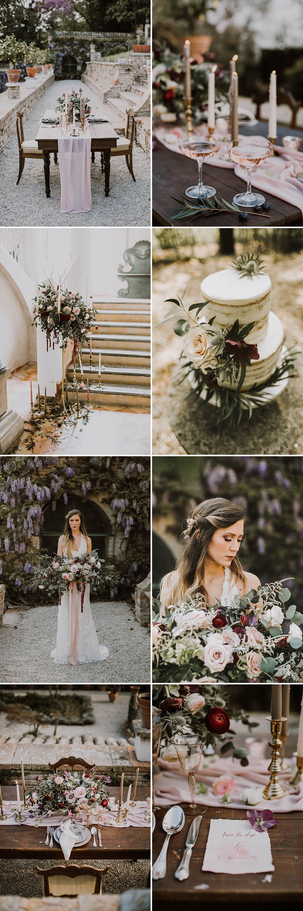Destination Wedding Inspiration With A Rose Pink & Marsala Colour Palette