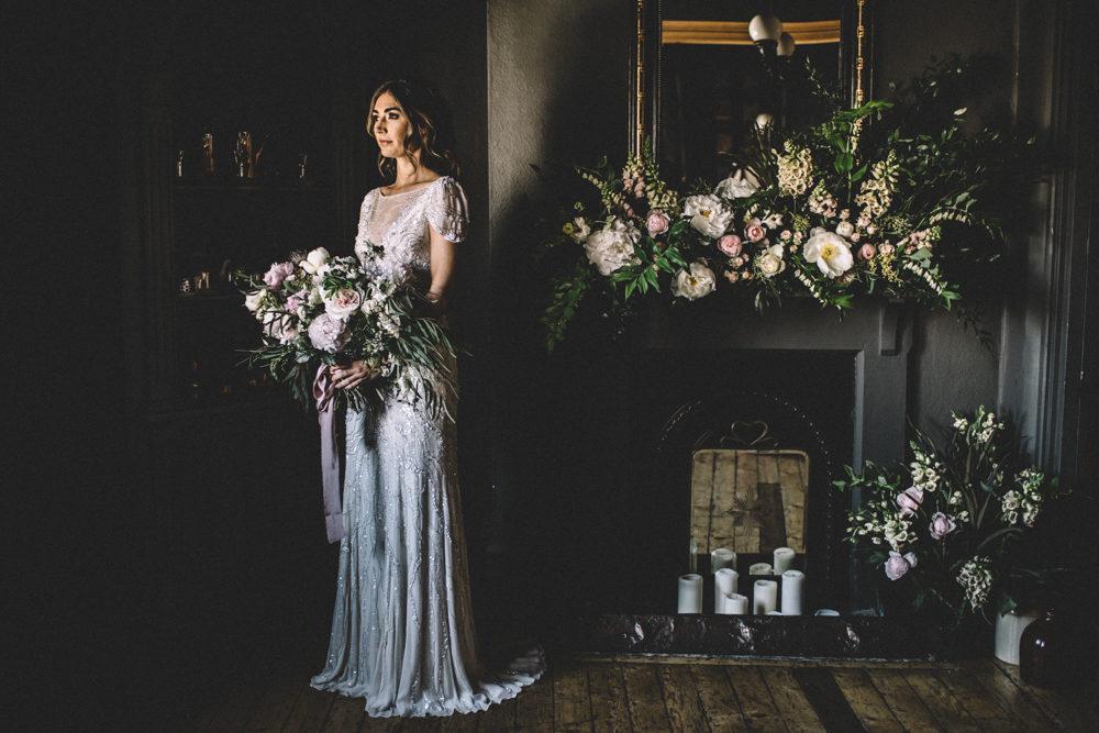 Dark Hues For An Intimate Wedding Inspiration Shoot At