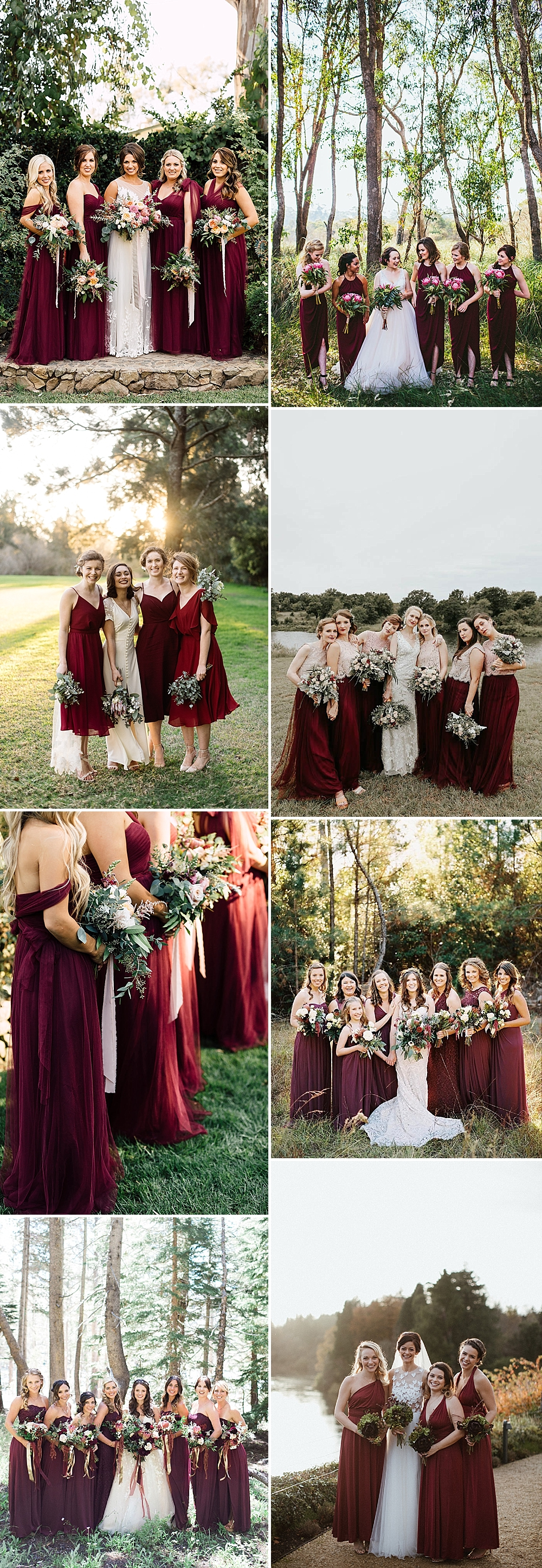 Burgundy Bridesmaid Inspiration