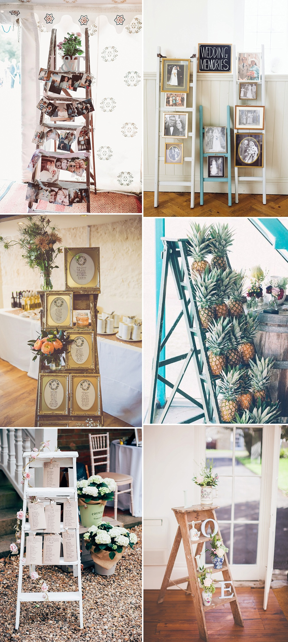 Wedding Decor & Styling Ladders How To Personalise Your Wedding Decor
