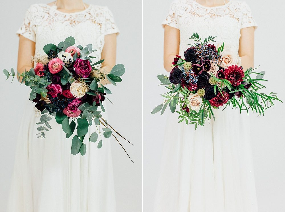 Winter Wedding Bouquets.Winter Wedding Bouquets With Berry Coloured Blooms Foliage