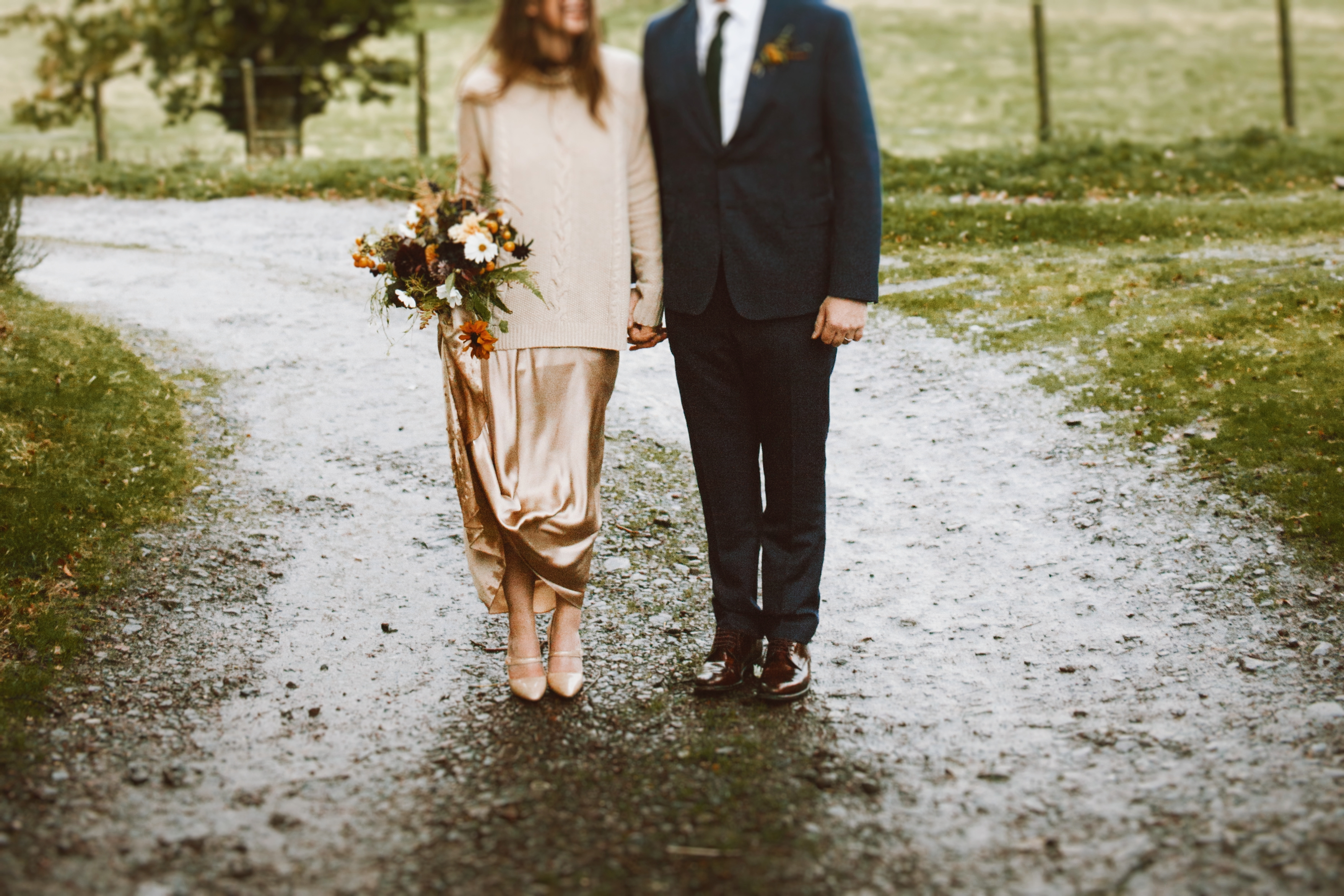 Bride In Knitted Cashmere Jumper For A Winter Wedding