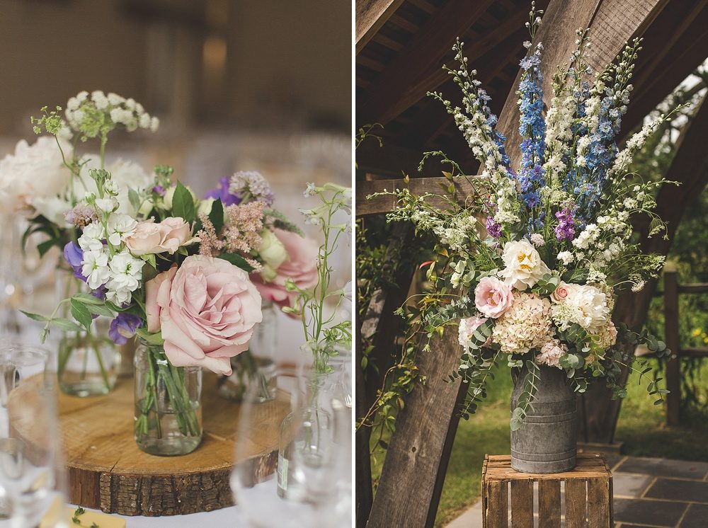 Millbridge Court Wedding Outdoor Ceremony & Pastel Flowers