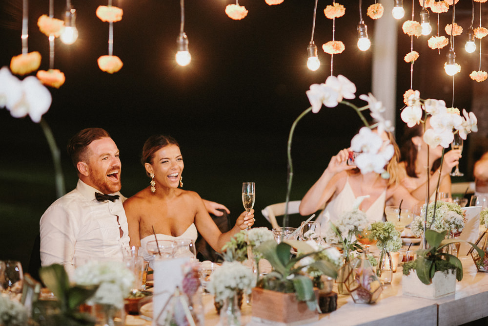Stylish Fairy Light Wedding In Bali