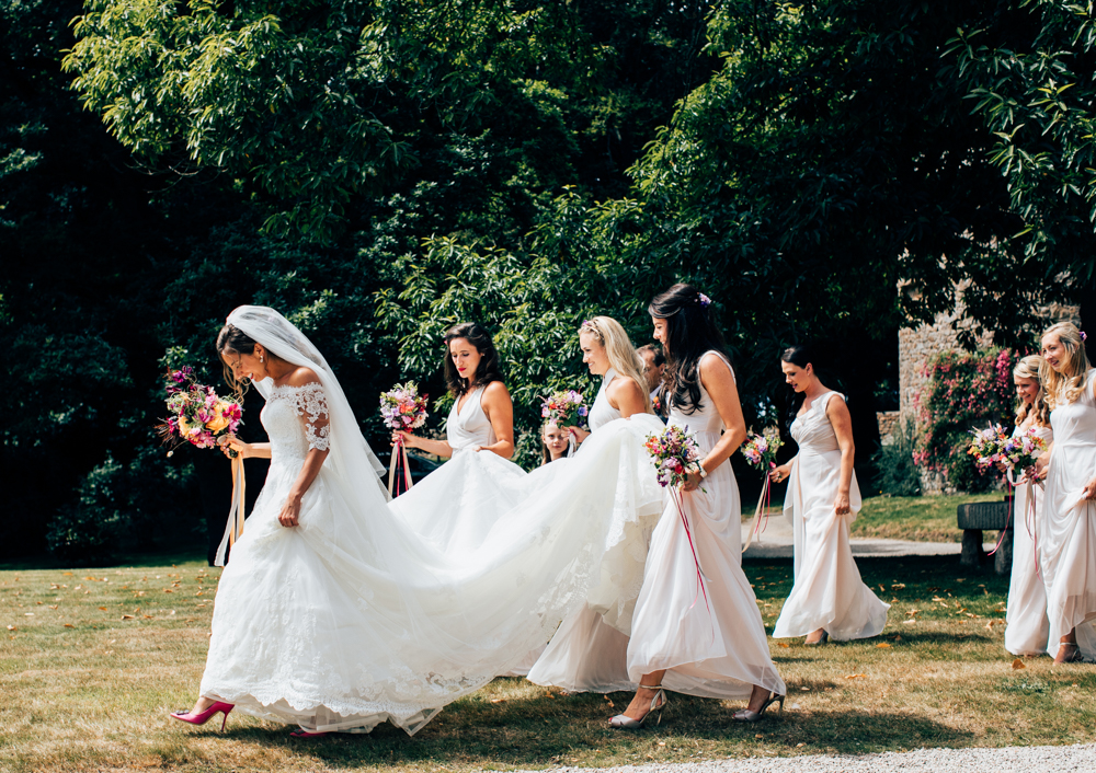 Elegant Pronovias Bride & Wedding Party