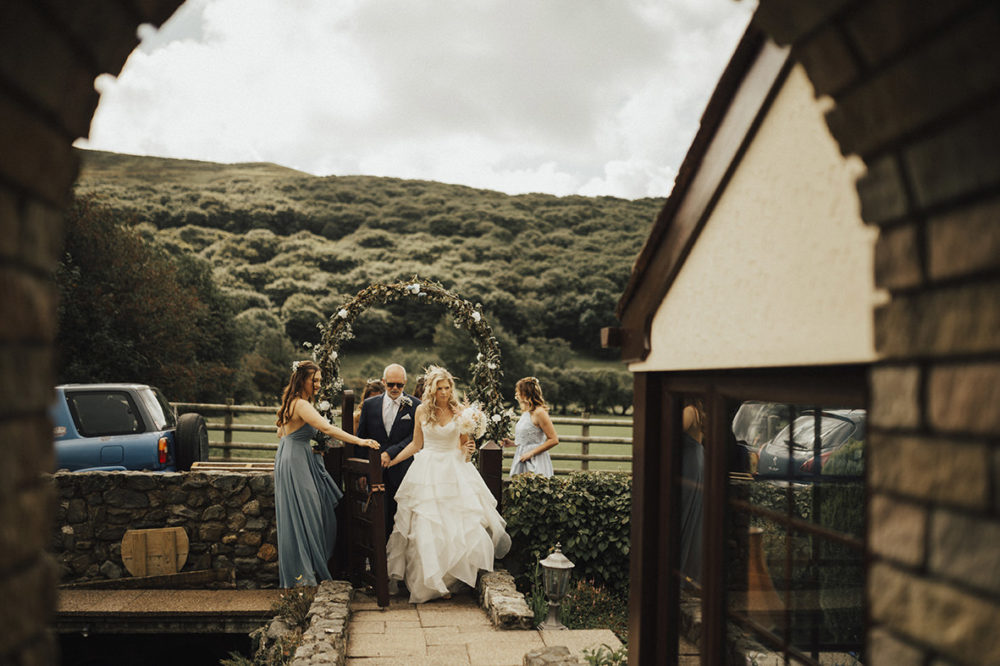 961e0fabeae Outdoor Festival Beach Wedding at Aberdovey in Wales