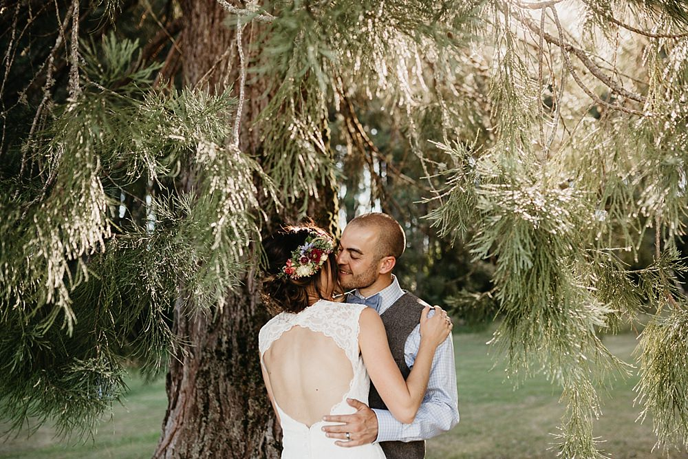 DIY At Home Farm Wedding with Rustic Decor & Wild Flowers | Lace Stella York Wedding Dress | Gloria Byler Photography