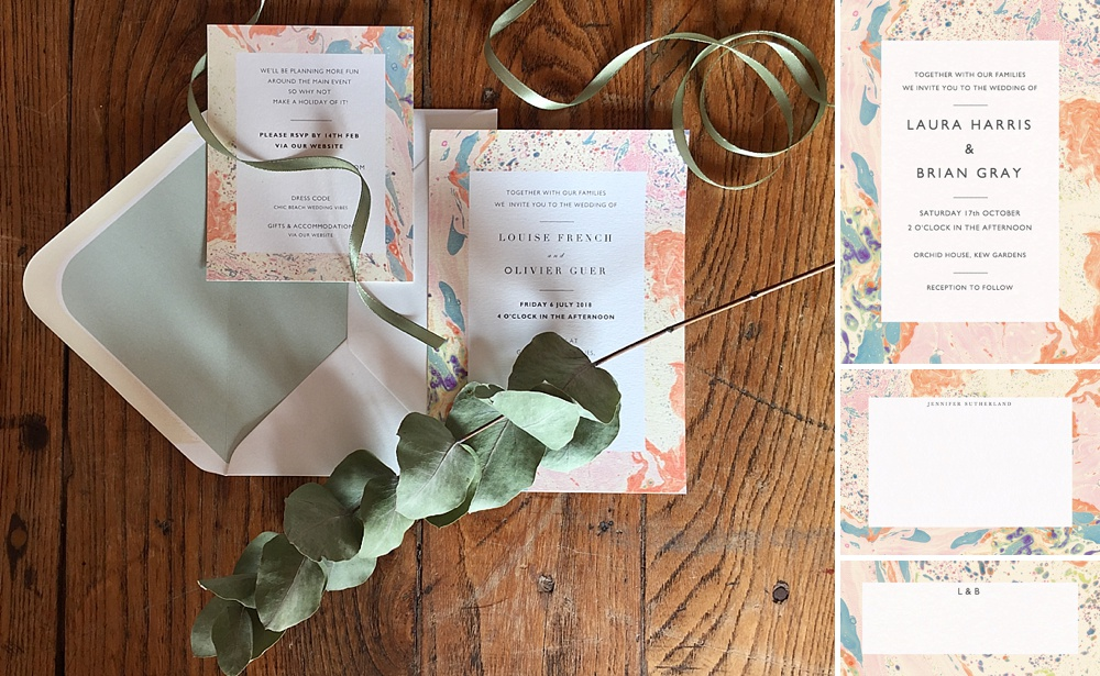 Marbled Wedding Stationery By Papier x Katie Leamon