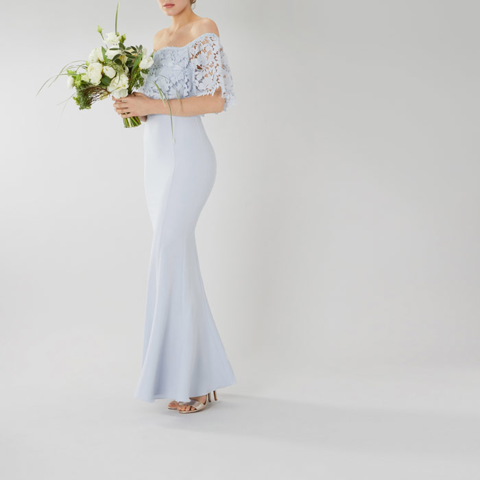 7481d886b0a7 Spring 2018 Bridesmaids Dresses Sherbet Lemon And Powder Blue