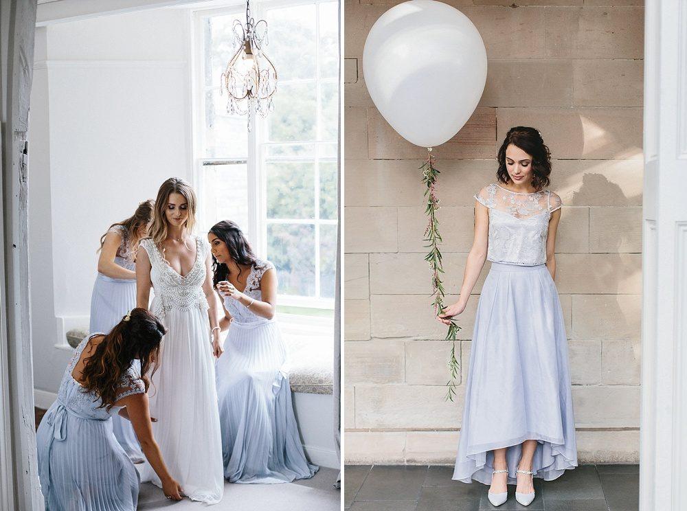 Spring 2018 Bridesmaids Dresses Sherbet Lemon And Powder Blue