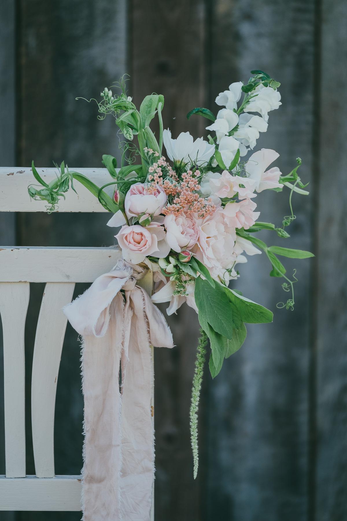 DIY Floral Chair Back Arrangements For Wedding 3acre Blooms