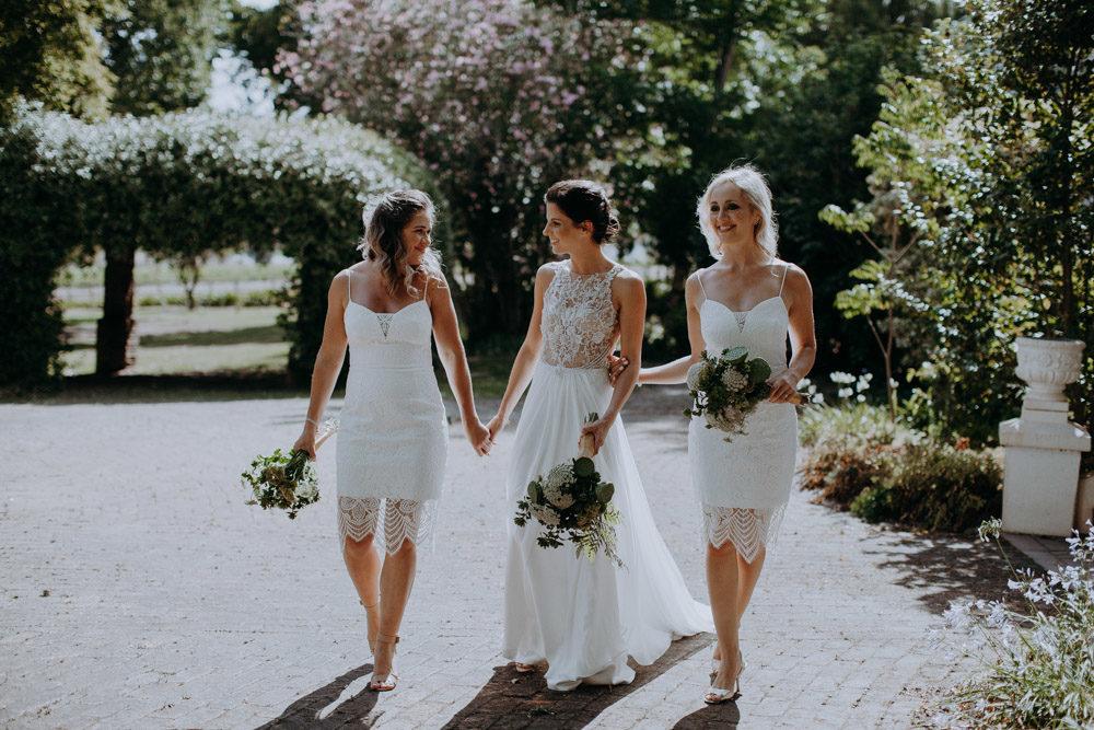 Outdoor Destination Wedding At The Modern Heirloom Overgaauw Wine Estate In South Africa