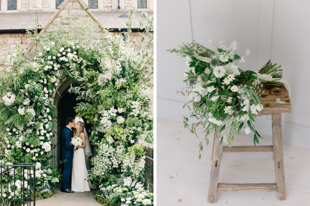 Summer Wedding Styling Inspiration Green And White Flowers Foliage