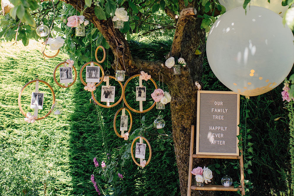 DIY Wedding Family Tree