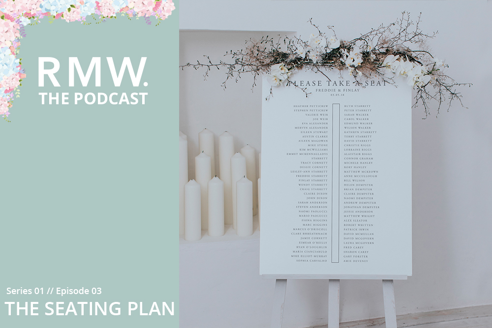 How to put together a wedding seating plan