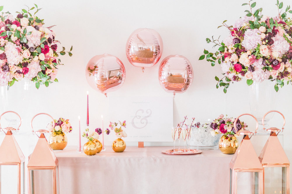 b125d8e5d19c9 Blush Pink Opulent London Engagement Party Inspiration Planned & Styled by  Just Bespoke | Rosehip London Flowers | Monannie Cakes Edible Treats |  Classic ...