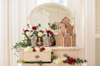 Gingerbread House For A Festive Christmas Wedding