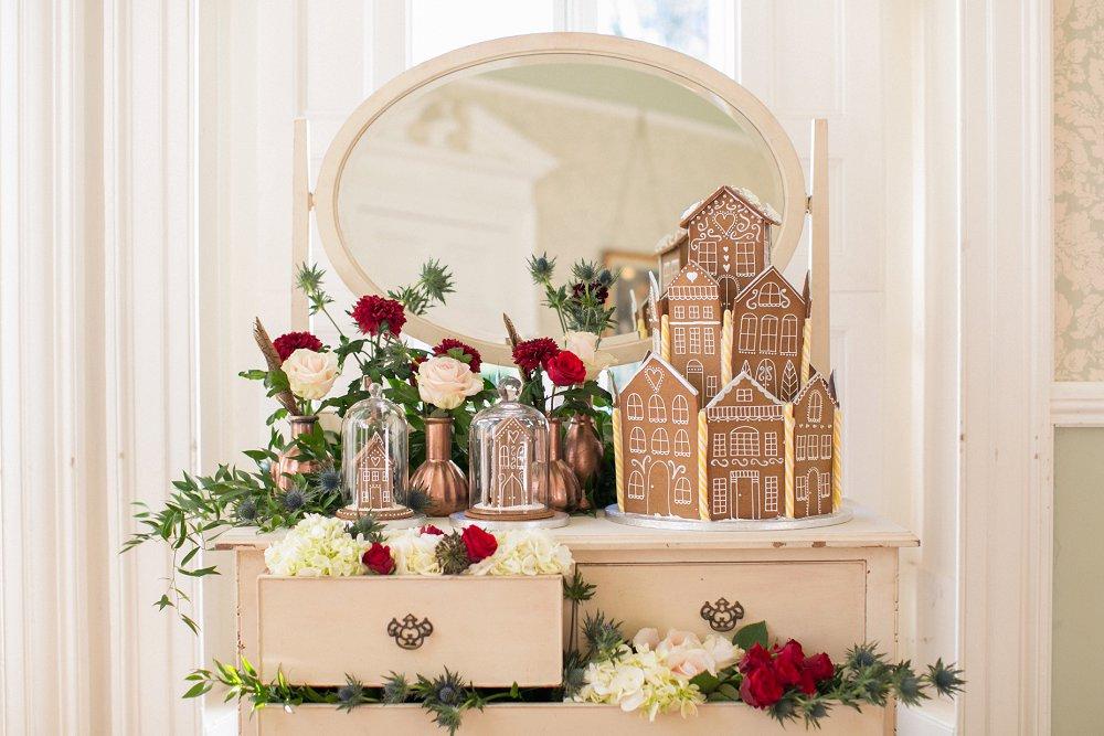 Gingerbread House For Festive Christmas Wedding