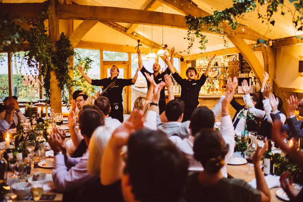 Singing Waiters Cripps Barn Ed Godden Photography