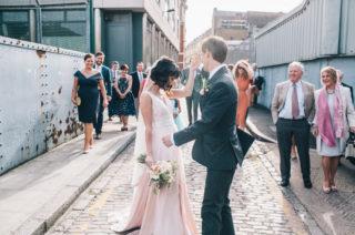 Catherine Deane Black Friday Sale // Blush Pink Wedding Dress // Image By Robbins Photographic