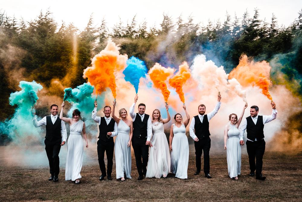 Smoke Bombs For Wedding Photographs // 2018 & 2019 Wedding Trends