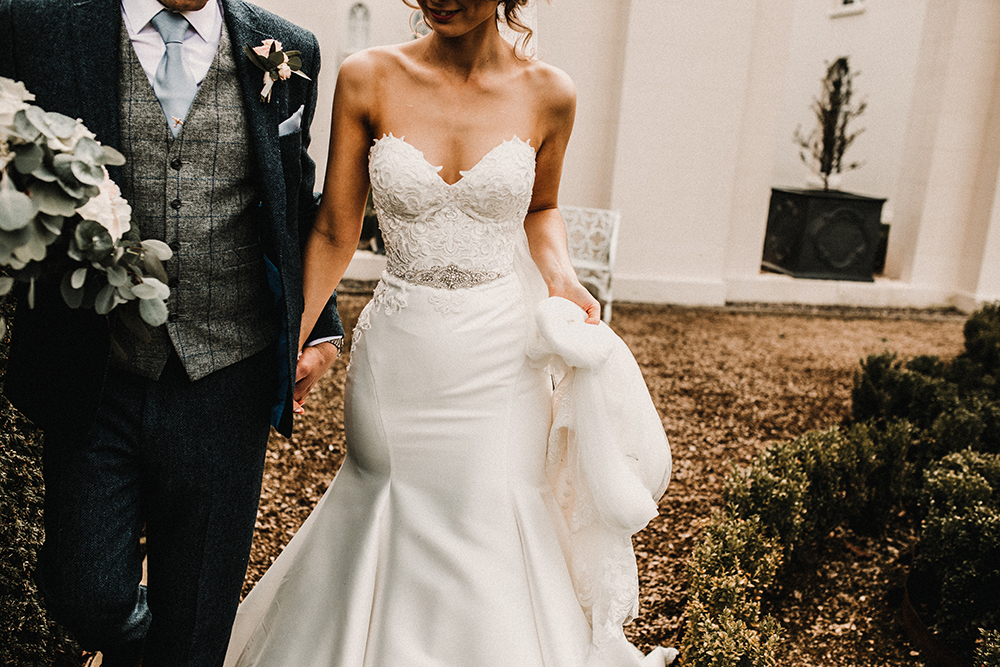 Hourglass Essence of Australia Wedding Dress for a Sophisticated Wedding at Combermere Abbey, Cheshire
