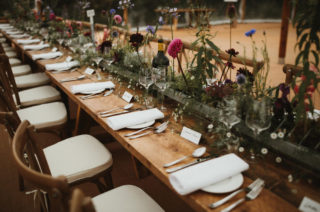 Living Floral Runner For Wedding Tables