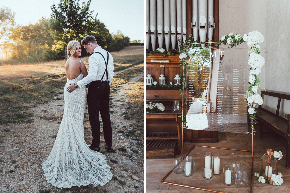 Galia Lahav Mermaid Style Wedding Dress // Longbourn Estate Barn // Images By The Vedrines