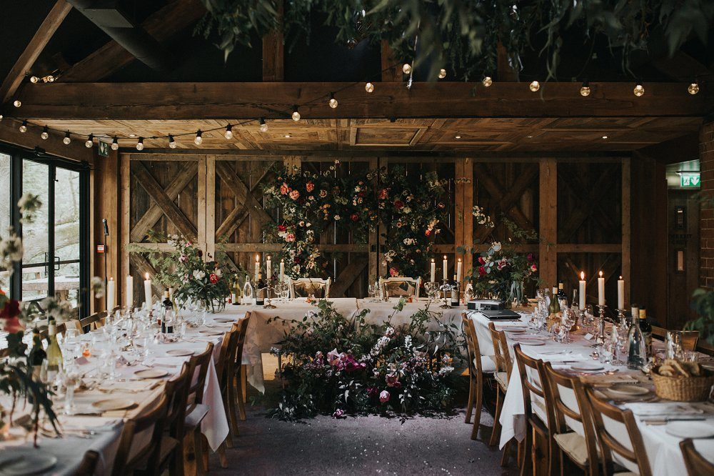 Vintage Dewsall Court Wedding | Floral Installation | Lusan Mandongus Wedding Dress | Lilac Multiway Bridesmaid Dresses | Kerry Diamond Photography