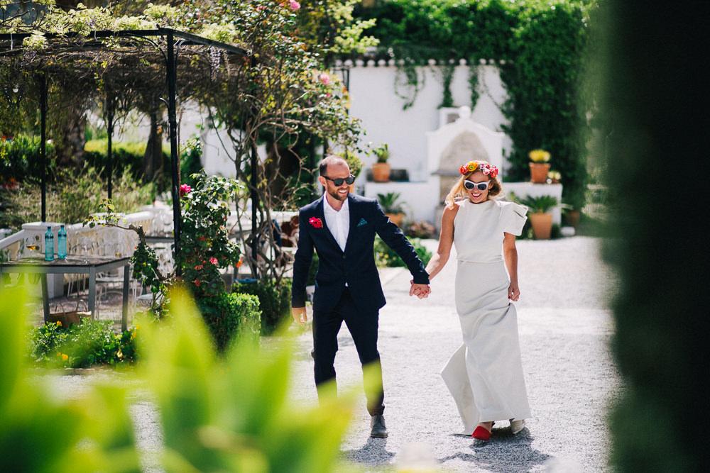Pool Party Weekend Long Wedding In Spain With Bride In Flower Crown